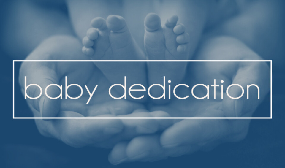 Baby Dedication Ceremony